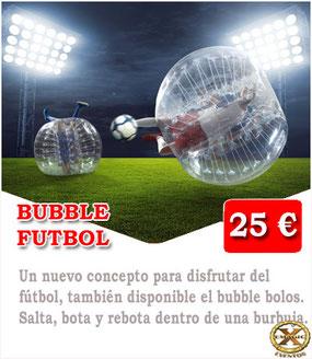 jugar una partida de bubble futbol en Cádiz