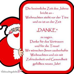 Weihnachtsgrüße und Wünsche für Kunden und Mitarbeiter