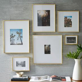 Three Picture Framing Trends For 2019 by PASiNGA, image of brass frames via Pinterest