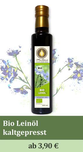Leinöl, Bio-Leinöl, Leinsamenöl, Öl, kaltgepresst, Omega3 Fettsäuren, mühlenfrisch, naturbelassen, Leinsamen, Leinsamenöl, nativ, extra-nativ