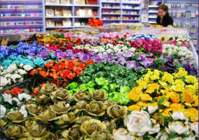 Beautiful Paper Flowers in a sea of colours