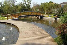 上海の別荘団地の緑地