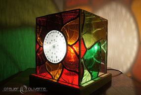 lampe flower vitrail atelier olivette
