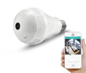 cámara de seguridad en bombillo