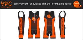 Custom 1-Piece Tri Suits (Rear Zip)