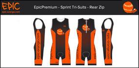 Custom 1-Piece Tri Suits Front Zip