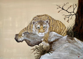 """Crouching tiger"" 50 x 70 cm"