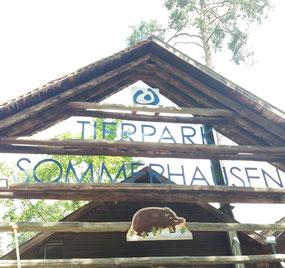 Eingang Tierpark Sommerhausen
