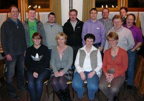 Neu gewählter Vorstand und Musikkommission