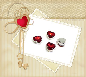 Strass coeur rouge