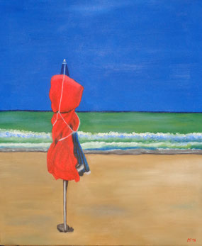556 - parasol orange-Cabourg, 2016
