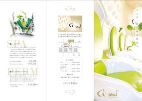 美容室パンフレット1(A4サイズ三つ折りパンフレット)デザイン作成事例