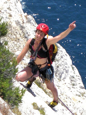 Climbing in the Calanques National Park of Marseille