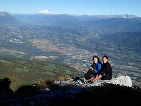 Mère et fils au sommet de La Rousse