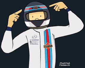 Valtteri Bottas by Muneta & Cerracín - Valtteri Bottas con un Williams FW36 - Mercedes