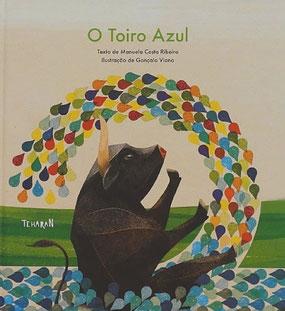 """Buch für Kinder auf portugiesisch """"O toiro azul"""""""