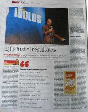 Article de l'Alfred a El Periódico