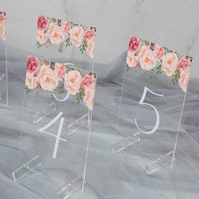 Acrylglas Tischkarte