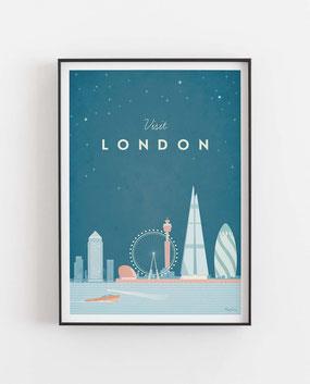 Schöne Orte London Poster im skandinavischen Stil