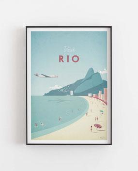 Schöne Orte Rio Poster im skandinavischen Stil