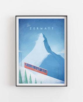 Schöne Orte Zermatt Poster im skandinavischen Stil