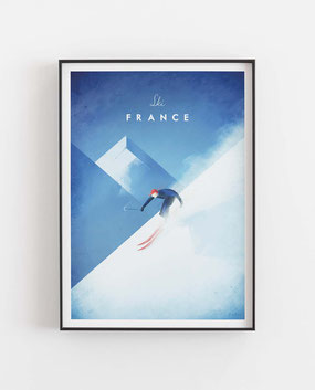 Schöne Orte Frankreich Poster im skandinavischen Stil