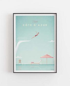 Schöne Orte Cote D Azur  Poster im skandinavischen Stil