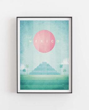 Mexico Poster im skandinavischen Stil