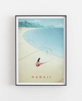 Schöne Orte Hawaii Poster im skandinavischen Stil