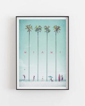 Schöne Orte Miami Poster im skandinavischen Stil