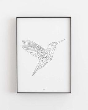 Eisvogel geometrisch