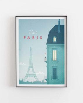 Schöne Orte Paris Poster im skandinavischen Stil