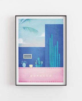 Marokko Poster im skandinavischen Stil