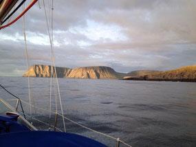 Nordkapp vom Boot aus
