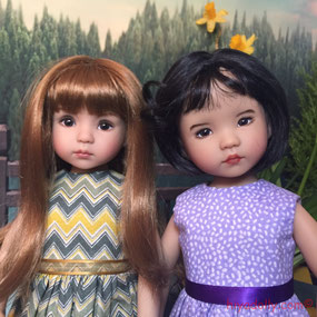 Dianna Effner Little Darling doll friends, by artisans Geri Uribe and Joyce Matthews