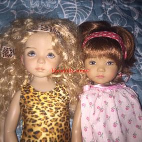Dianna Effner Little Darling doll friends, by artisans Geri Uribe and Helen Skinner