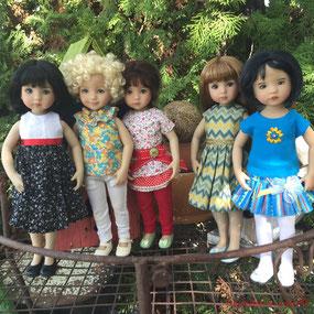 Dianna Effner Little Darling doll friends, in Dolltown