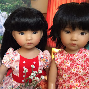 Dianna Effner Little Darling doll friends, UFDC Ana and Ana prototype