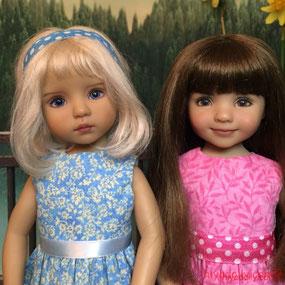 Dianna Effner Little Darling doll friends, by artisans Joyce Matthews and Dianna Effner