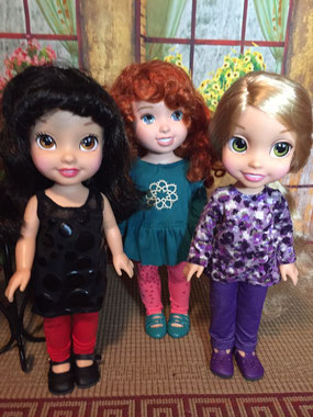 Disney Princesses, Snow White, Merida, Rapunzel
