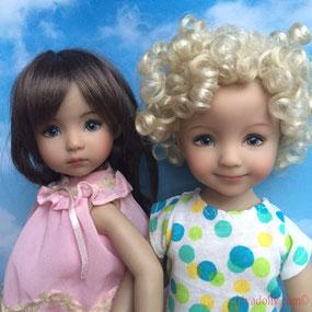Dianna Effner Little Darling doll friends, from Artisan Geri Uribe