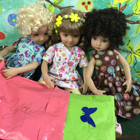Dianna Effner Little Darling dolls open mail from Maggie and Kate Create