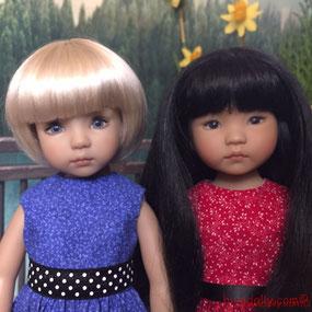Dianna Effner Little Darling doll friends, by artisans Geri Uribe and Dianna Effner
