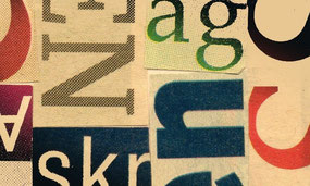typografische collage