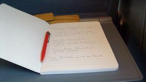 Schreiben im Zug nach Hagen