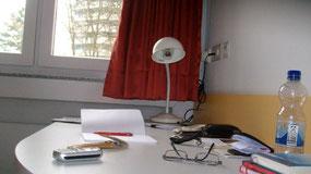 Schreibtisch in der Bildungsherberge Hagen