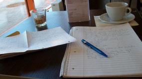 der Klassiker: schreiben im Café