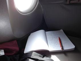 Im Flugzeug, unterwegs nach Rostow am Don.