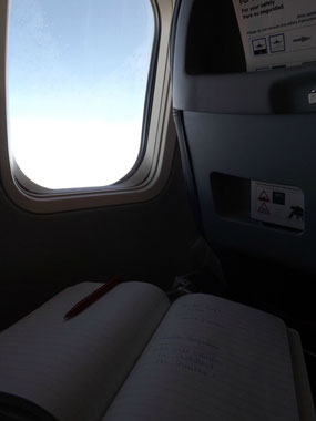 Auf dem Flug zurück, nach Berlin Tegel.
