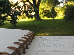 Draußen schreiben